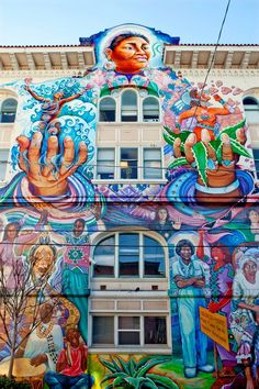 Women's Building, Mission District of San Francisco. - This Californian city…