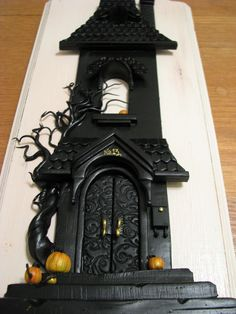 Haunted House from polymer clay