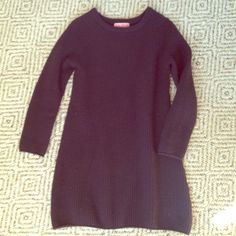 Knit Sweater Dress Dark brown, soft wool, very cozy! I love wearing this, unfortunately it's become to big for me. Perfect to wear with leggings and cute boots or tennis shoes! Colorant Sweaters Crew & Scoop Necks