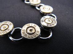 Bullet Bracelet  9mm Winchester spent round by MischiefOfMice, $50.00
