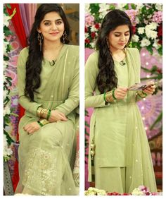 in a traditional Gotta Mint Green ensemble. Pakistani Couture, Indian Designer Wear, Photo Poses, Indian Wear, Mint Green, Casual Dresses, Actresses, Stylish, Womens Fashion