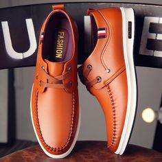 KBSTYLE Online Store Diseño minimalista de alta calidad Marca Men d . Pink Shoes, Top Shoes, Shoes Men, Flat Shoes, Tenis Casual, Casual Shoes, Leather Men, Leather Shoes, Gents Shoes