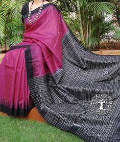 Elegant Gopalpur Silk Saree with Ikkat Bandha Palla Traditional Trends, Traditional Silk Saree, Saree Blouse Neck Designs, Blouse Designs, Indian Outfits, Indian Clothes, South Indian Sarees, Indian Beauty Saree, Collar Shirts
