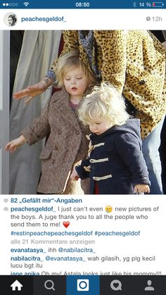 New photo of Astala and Phaedra. I miss their mommy! Peaches Geldof, New Pictures, Bob, Hollywood, People, Women, Bob Cuts, People Illustration, Bob Sleigh