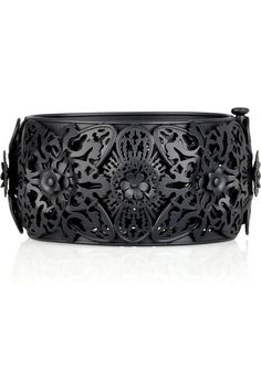 Bottega Veneta blackened oxidized silver bangle.