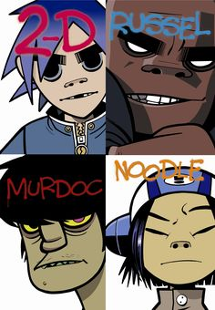 Gorillaz is the most successful virtual band ever, fronted by four wildly talented but totally disparate characters: pretty-but-vacant singer 2D, satanic bassist Murdoc Niccals, Japanese guitar prodigy Noodle and amiable man-mountain drummer Russel Hobbs. Formed in 2000, the group's eponymous debut album was released to wide acclaim and 5 million+ sales the following year.
