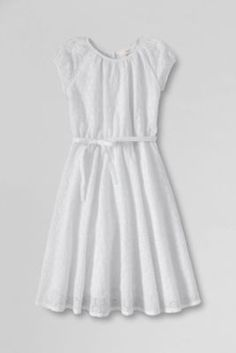 Girls' Short Sleeve Eyelet Twirl Dress from Lands' End.This is a cute dress for Easter or anything else.