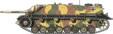 German Camouflage Jagdpanzer IV Unknown Unit – Hungary, March 1945