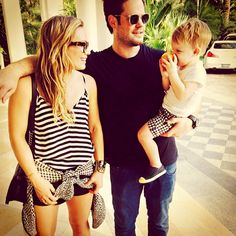 Hilary Duff shared this photo of her vacay with estranged husband Mike Comrie and son Luca