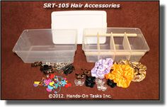 sorting hair accessories - fun and simple