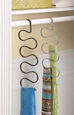 Scarf Organizers are a great option of keeping your scarf collection neat, clean and organized.