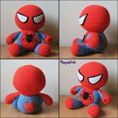 Spiderman - Visit to grab an amazing super hero shirt now on sale!Spiderman for Mayson Crochet Disney, Diy Crochet, Crochet Crafts, Yarn Crafts, Crochet Toys, Crochet Baby, Crochet Projects, Crochet Dolls Free Patterns, Amigurumi Patterns