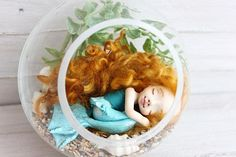 Sleeping mermaid Informations About Sleeping mermaid, Art clay Polymer Clay Dolls, Polymer Clay Crafts, Handmade Baby Gifts, Etsy Handmade, Crafts For Kids, Diy Crafts, Anime Dolls, Mermaid Art, Soft Dolls