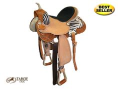 Tahoe Western Barrel Saddle Zebra Print Super Sale