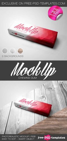 Free Chewing Gum Mock-up in PSD | Free PSD Templates