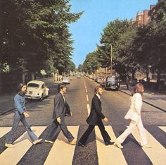 The Beatles - Abby Road, use to listen to this CD on the way to primary school as a kid I have this record on my bedroom shelf it feels awesome when I take a glance at it