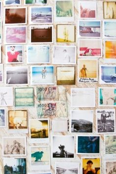 Polaroid Wall. I want this in and around my house by the end of 2014/2015 summer.