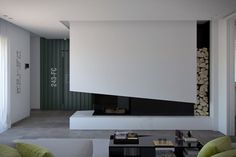 View full picture gallery of Progetto Di Una Casa Su Tre Livelli Modern Fireplace, Living Room With Fireplace, Fireplace Design, Living Room Interior, Home Living Room, Italy House, Fireplace Remodel, Fireplace Surrounds, Contemporary Design