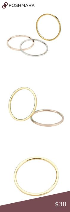 Solid Gold Wedding Band Stainless Steel Ri… Brand new in original packaging. T...#band #brand #gold #original #packaging #solid #stainless #steel #wedding Gold Wedding, Wedding Bands, Wedding Couples, Silver Roses, Rose Gold, Womens Jewelry Rings, Women Jewelry, Stainless Steel Plate, Couple Rings