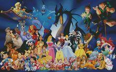 Disney movies-Cross Stitch Pattern Pdf by Fairygarden25 on Etsy