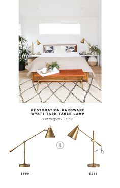 Restoration Hardware Wyatt Task Desk Lamp | Copy Cat Chic | Bloglovin'