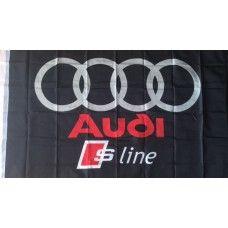 Audi -s S-line zászló Adidas Logo, Audi