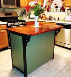 Small Kitchen Island Furniture Ideas One of the terrific aspects of kitchen island furniture is that you can find such a range offered. All things can be found in all shapes and sizes – kitchen furniture as well. Dresser Kitchen Island, Kitchen Island Furniture, Country Kitchen Island, Kitchen Island Table, Kitchen Island With Seating, Ikea Kitchen, Kitchen Flooring, Kitchen Dining, Kitchen Decor