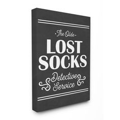 29161d2008f3 The Stupell Home Decor Collection Olde Lost Socks Detective Service XXL  Stretched Canvas Wall Art