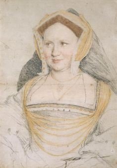 Portrait study of Mary, Lady Guildford, née Wotton, by Hans Holbein 1527 (Kunstmuseum Basel