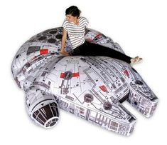 By Andrew Liszewski I almost feel bad about posting this amazing Millennium Falcon bean bag . Read more Custom-Made Millennium Falcon Bean Bag Chair Will Never End Up In A Galaxy, Or Living Room, Near You Millennium Falcon, Cool Stuff, Star Wars Zimmer, Star Wars Furniture, Geek Furniture, Furniture Design, Decoracion Star Wars, Images Star Wars, Star Wars Room