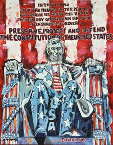 Abraham Lincoln Monument Oath Original Fine Art PAINTING DAN BYL Patriotic 4x5ft #Impressionism I Give Up, Grand Entrance, Large Art, Abraham Lincoln, Canvas, Movie Posters, Painting, Ebay, Tela