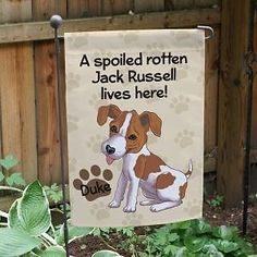 Jack Russell Personalized Garden Flag