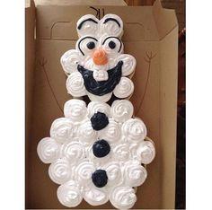 Cupcakes formando o Olaf !