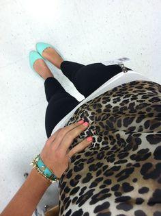 Leopard..White..Mint..Black<3