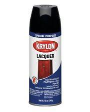 Krylon 7030 Lacquer Spray Paint Gloss Black, 12-Ounce Aerosol, New, Free Shippin