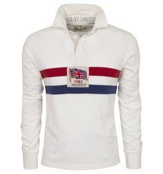 Hackett Flag Striped Rugby Shirt - Designer Menswear at Hackett