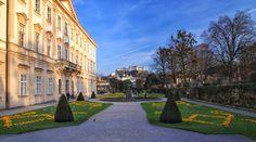 Mirrabell palace and gardens Salzburg Austria, Palace, Sidewalk, Gardens, Side Walkway, Outdoor Gardens, Palaces, Walkway, Walkways