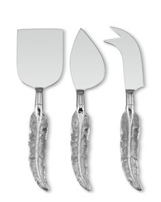 Quill Nickel Cheese Knife Set