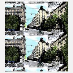 Vallila Bulevardi Shower Curtain Multi now featured on Fab.