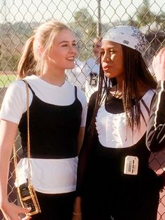 "Cher and Dionne in gym class. ""my plastic surgeon said to refrain from activities where balls are flying at my face."" ""well, there goes your social life."""