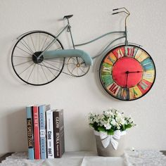 Retro Bicycle, Beach Cruiser Wall Clock with Wheel as Clock Face Decor, Diy Decor, Retro Bedrooms, Bedroom Wall Clock, Decor Guide, Retro Home Decor, European Home Decor, Retro Home, Home Decor