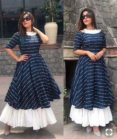 Book your dresses stiched and customised in any color and size. Order at 918968922443 Sizes available S to Shipping worldwide✈ For booking WhatsApp or call at 8968922443 Kurta Designs Women, Kurti Neck Designs, Kurti Designs Party Wear, Indian Designer Outfits, Designer Dresses, Indian Outfits, Designer Kurtis, Stylish Dresses, Casual Dresses