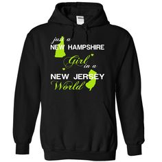 (NHJuxtXanhChuoi001) Just A New ⑤ Hampshire Girl In A New_Jersey WorldIn a/an name worldt shirts, tee shirts