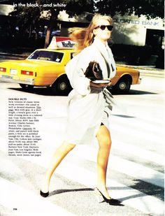☆ Claudia Schiffer | Photography by Ellen von Unwerth | For Vogue Magazine US | April 1989 ☆ #Claudia_Schiffer #Ellen_von_Unwerth #Vogue #1989