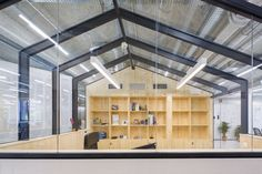 studio banana have worked alongside mccann worldgroup madrid to create a radically collaborative workspace as part of the company's 'vision Madrid, Innovation Lab, Interior Architecture, New Homes, Minimalist, Studio, Building, Coffeehouse, Workspaces