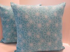 Pillow Covers Beautiful Teal Blue 16 Inch  Pair  Ready by vertzvkv, $43.00