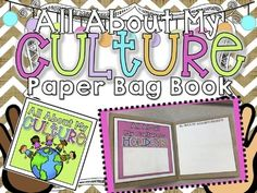 This activity mirrors the questions students will answer in the My Culture Unit.  It is a way fun way for students to present and share the information they collected for their Family Culture Project in the My Culture Unit.For the full product, click below:All About CultureStudents will use information collected on their culture to create an ADORABLE paper bag book.