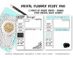 Biggest Mom life hack - digital planning - fully customizable and unbelievably convenient (June & Lucy Digital Planner on Etsy) - Recipe Cards for a digital planner Planner Pages, Planner Stickers, Bujo, Packing List Template, Movie Tracker, Any App, Information Design, Journal Covers, Recipe Cards