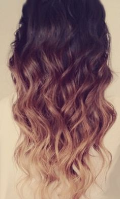 Real Ombre Hair Extensions (love the colors, probably wouldn't do extensions, my hair is long enough already)
