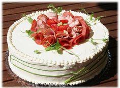 Pullahiiren leivontanurkka: Kinkkuvoileipäkakku Cake, Desserts, Food, Tailgate Desserts, Deserts, Kuchen, Essen, Postres, Meals